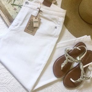 NWT Coldwater Creek white ankle jean